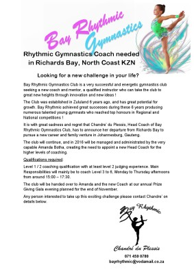 RG Coaching Advert 2015